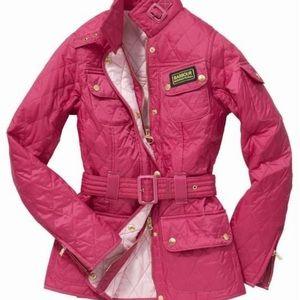 Hot pink Barbour jacket